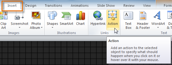 Editing an action button