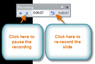 The Recording toolbar
