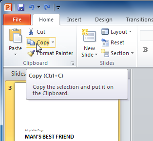 Copy command