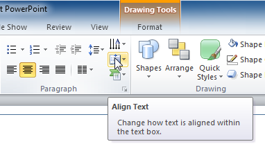 Align Text command