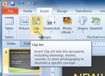 Powerpoint 2010 Inserting Images