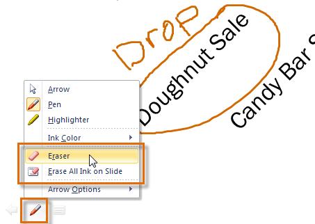 Доступ к параметрам Eraser