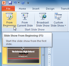 PowerPoint 2010: Presenting Slide Show