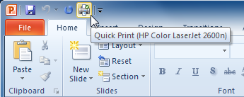 The Quick Print command