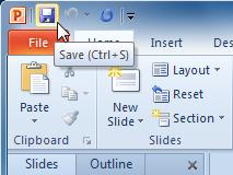 Saving a presentation