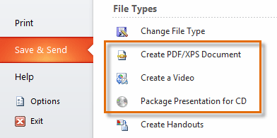 Selecting a different file type