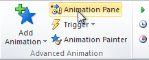 Opening the Animation Pane