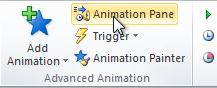 Открытие анимационной панели
