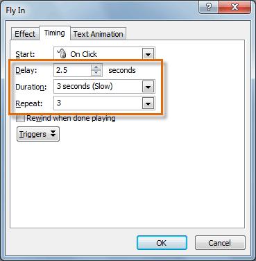 Изменение параметров синхронизации