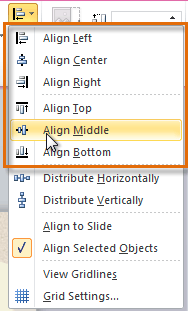 Choosing an alignment option