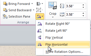 Selecting a rotation option