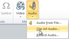 Inserting Clip Art Audio