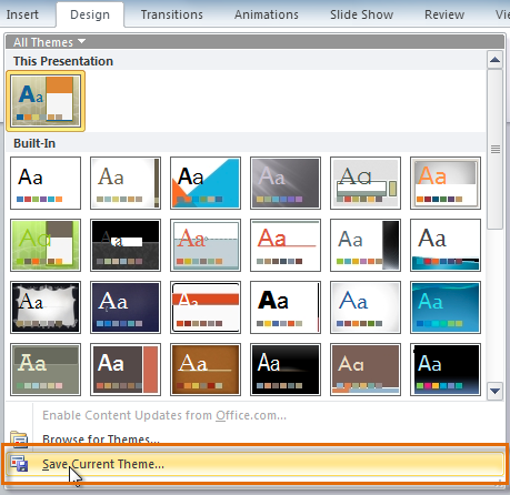 themes for powerpoint 2010