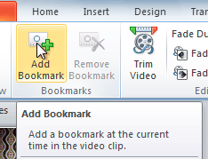 Adding a bookmark