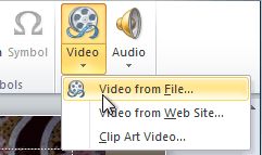 Inserting a video from a file