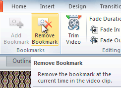 Removing a bookmark