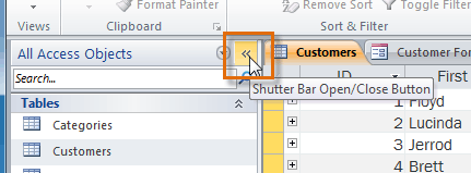 Minimizing the Objects Pane