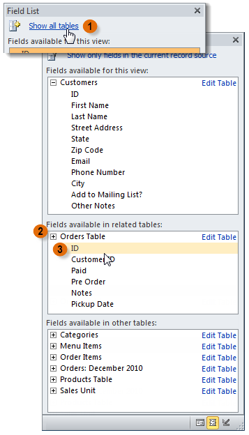 Selecting a field from another table