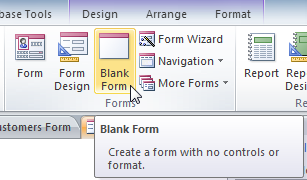 The Blank Form command