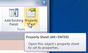 The Property Sheet command
