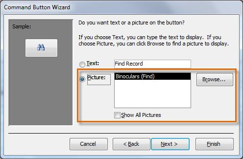 Использование изображения в командной кнопке