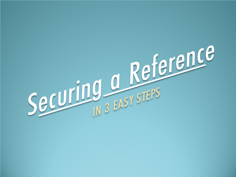 securing a reference slideshow