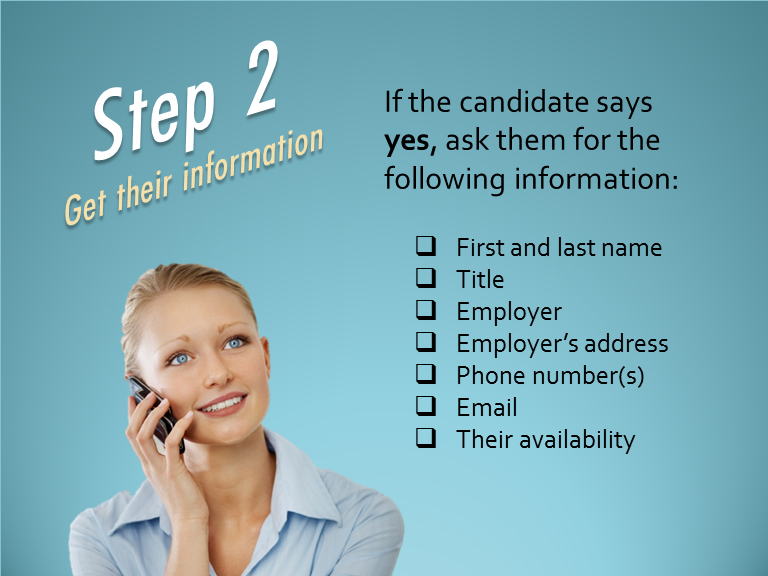 step 2 get their information