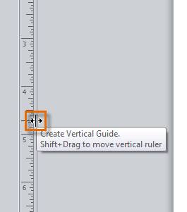 Creating a vertical guide