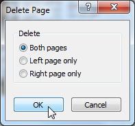 Choosing which pages to delete