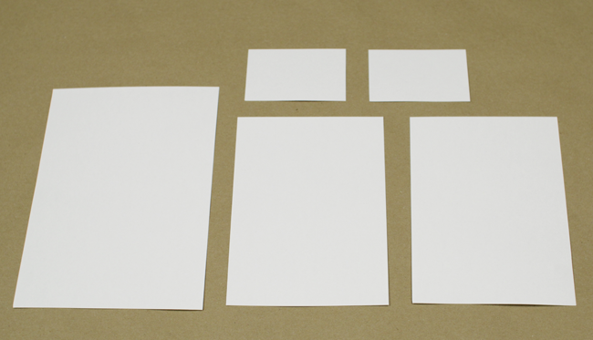 Paper in various sizes