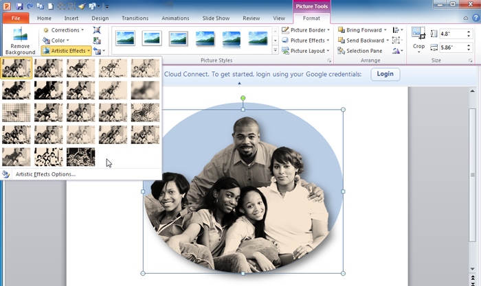 Additional picture-editing options in PowerPoint