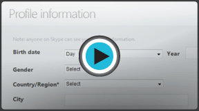 """Launch """"Creating an Account with Skype"""" video!"""