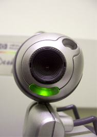 Separate webcam