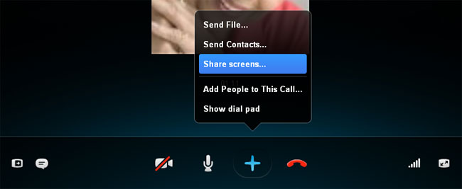 skype share screen with audio