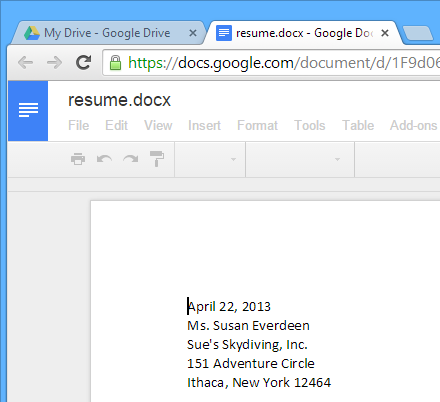 Screenshot Of Google Drive  Google Drive Resume