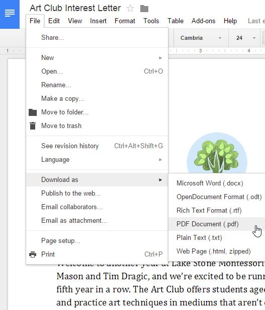 Στιγμιότυπο οθόνης του Google Drive