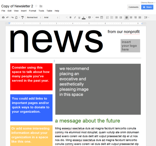 Google Slides: Creating Google Docs - Full Page