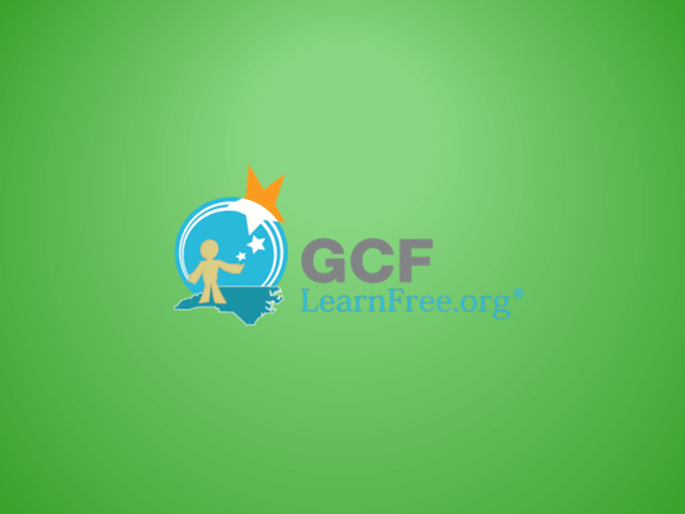 slide 7 - end screen with GCF Learn Free logo