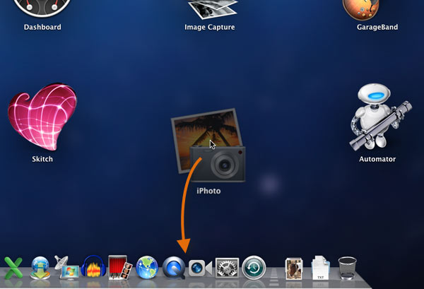 Adding an app to the Dock