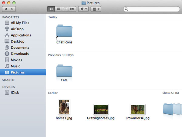 After arranging the folder