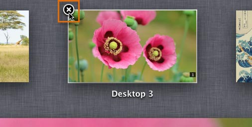 Deleting a desktop space