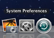Opening System Preferences from the Dock