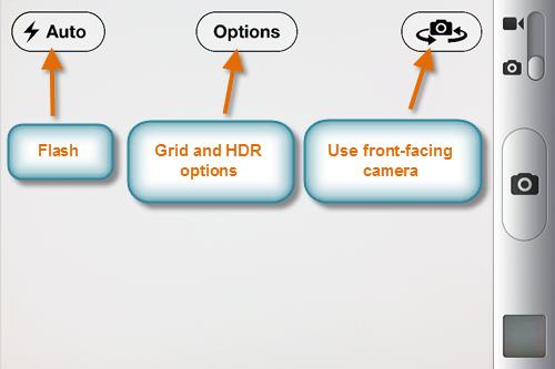 iPhone kamera seçenekleri