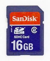 An SDHC card