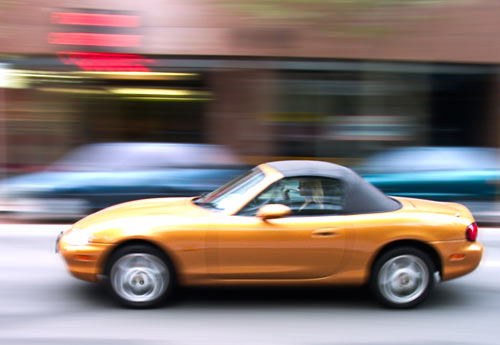 Using a slower shutter speed to capture motion blur