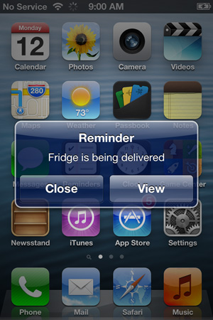 Reminders notifications