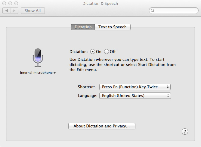Screenshot of System Preferences
