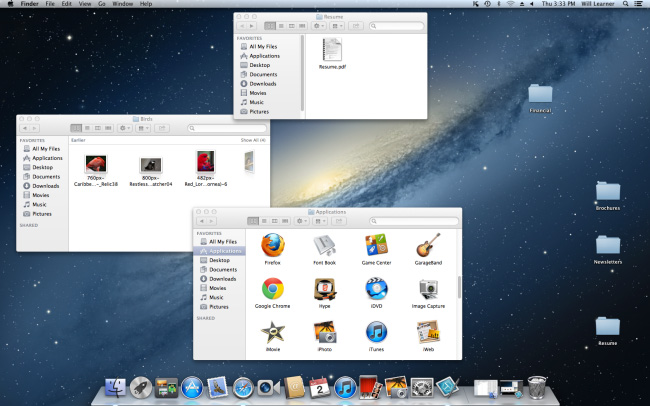 Screenshot of OS X Mountain Lion