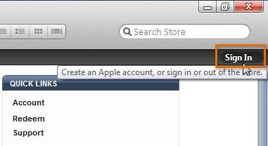 Screenshot of iTunes