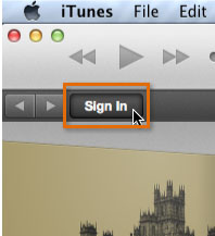 Signing in to the iTunes Store